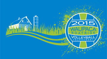 2015 Waupaca Boatride Volleyball Tournament T-Shirt